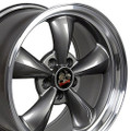 "17"" Fits Ford® Mustang® Bullitt Wheels Anthracite with a Fine Machined Lip Set of 4 17x8"" Rims"