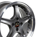 "17"" Fits Ford® - Mustang® Cobra R 4 Lug Wheels  Anthracite Set of 4 17x8 Rims"