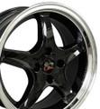 """17"""" Fits Ford® - Mustang® Cobra R 4 Lug Wheels - Black Set of 4 17x8 Rims"""