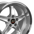 Set of 4 17'' Fits Ford® - Mustang® Cobra R Wheels - Silver 17x10.5 Rims