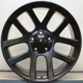 20'' Fit's  Dodge Ram SRT 10 Viper SRT10 1500  Dakota Durango Wheels Satin Black Rims Set of 4 20x9 Hollander 2223
