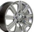 "22"" Fits Land Rover Stormer Style Wheels Hyper Silver Set of 4 22x10"" Rims Hollander 72200"