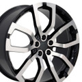 "22"" Fits Land or Range Rover Wheels Machined Black Set of 4 22x10"" Rims"
