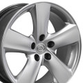 "18"" Fits Lexus LS460 Toyota Wheels Hyper Silver Set of 4 18x8 Rims"
