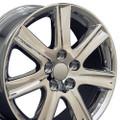 """17"""" Fits Lexus ES 350 Wheels Rims Chrome Set of 4 17x7 Hollander 74190"""