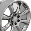 "4 Set 22"" Fits Cadillac- Escalade Chevy GMC Tahoe Silverado Sierra Yukon Replica Wheels Rims -  PVD Chrome 22x9"