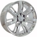 "22"" Fits Cadillac Escalade Chevy GMC Tahoe Silverado Sierra Yukon 1500 Wheels Rims - Chrome Set of 4 22x9"