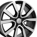 "18"" Fits Volkswagon Golf Wheels Black Machined Face Set of 4 18x7.5"" Rims"