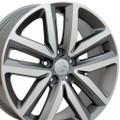 "Set of 4 18"" Fits Volkswagon - Jetta Wheels - Gunmetal Machined Face 18x7.5 Rims"