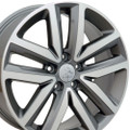 "18"" Fits Volkswagon Jetta Wheels Gunmetal Machined Face Set of 4 18x7.5 Rims"