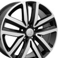 "Set of 4 18"" Fits Volkswagon - Jetta Wheels - Black Machined Face 18x7.5 Rims"