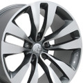 "20"" Fits Dodge Charger Challenger Chrysler 300 Magnum Wheels Gunmetal Machined Face Set of 4 20x10 / 20x9 Rims"