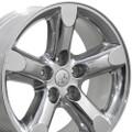 "20"" Fits Dodge Ram 1500 Chrysler Durango Dakota Wheels  Polished Aluminum Set of 4 20x9"" Rims Hollander 2267"