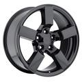 "Set of 4 18"" Ford Lightning Wheels Tires F150 SVT Style Gloss Black 18x9.5 Rims Hollander# 3420"