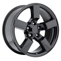 "18"" Ford Lightning Wheels F150 SVT Style Gloss Black Set of 4 18x9.5 Rims Hollander# 3420"