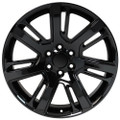 "22"" Cadillac Escalade Premium Style GMC 2015 Gloss Black Wheels Set of 4 22x9"" Rims"