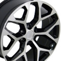 "20"" 2015 CK156 Chevy Silverado GMC Sierra 1500 Cadillac Machined Black Wheels Rims Set of 4 20x9"