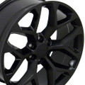 "22"" 2015 CK156 Chevy Silverado GMC Sierra 1500 Cadillac Matte Black Wheels Rims Set of 4 22x9-"