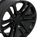 "22"" Matte Black 2015 CK158 GMC Yukon Sierra Wheels Rims Set of 4 22x9"