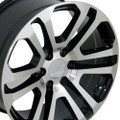 "22"" Machine Black 2015 CK158 Chevy GMC Yukon Sierra Cadillac Wheels Rims Set of 4 22x9"