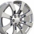 "One 22"" Fits Cadillac - Escalade Replica Wheel - Chrome 22x9"" - Chevy GMC - 5409 Limited Edit. Rim"