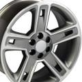 "Set of 4 22"" Fits Chevrolet- Silverado Replica Wheels Rims - Hyper Black Machined Face 22x9  - Hollander #"
