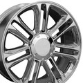 "24"" Fits Cadillac - Set of 4 Escalade Platinum GM Tahoe Silverado Suburban Wheel Rim - Chrome 24x10"" - Hollander 5358"
