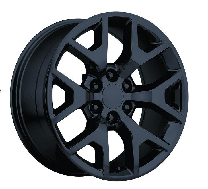 "Cadillac Srx Aftermarket Wheels >> 24"" Chevy 1500 Silverado Wheels GMC Sierra Rims Gloss Black Set of 4 24x10- Hollander 5656 ..."