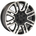 "20"" Fits Ford F 150 Expedition Lincoln Navigator Replica Wheels Rims Matte Black w/Machine Face Set of 4 20x8.5"