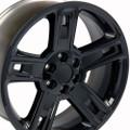 "22"" Fits Chevrolet- 2015 Silverado Tahoe CK160 Wheels Replica Rims Gloss Black 22x9  - Hollander # 5664"