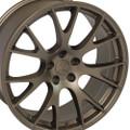 "22"" Hellcat Style Wheels Bronze Dodge Ram 1500 Dakota Durango Chrysler 22x10"" Rims"