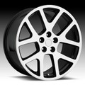 """20"""" Fits Jeep Grand Cherokee Commander Wrangler Viper Wheels Black with Machine Face Set of 4 20x9"""""""