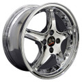 "17"" Fits Ford® - Mustang® Cobra R 4 Lug Wheels with Rivets Chrome Set of 4 17x8 Rims"
