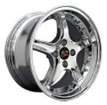 "17"" Fits Ford Mustang® Cobra R 4 Lug Deep Dish Wheel Chrome with Rivets 17x9"" Rim"