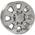 "18"" Fits Chevrolet GMC Sierra 2500 3500 Wheel Polished Set of 4 18x8"""