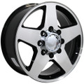 "20"" Fits Chevrolet Silverado Wheel Black Mach'd Face Set of 4 20x8.5"