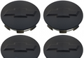 Chevy Bowtie Center Caps Silverado Suburban Tahoe Flat Black 3.25 Set of 4 Brand new Factory OEM Style