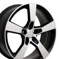 "20"" Fits Chevrolet Camaro SS Wheel Black Machined Face 20x8"" Rim"