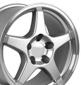 "17"" Fits Camaro Corvette ZR1 Silver Staggered Wheels Set of 4 17x9.5/11"" Rims"