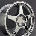 "17"" Fits Chevrolet Corvette ZR1 Staggered Chrome Wheels Set of 4 17x9.5/11"" Rims"