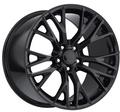 "17""/18"" Fits Corvette C7 Gloss Black Z06 Style Staggered Wheels Set of 4 17x8.5"" 18x9.5"" Rims"