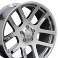 """22"""" Fits Dodge Ram 1500 SRT10 Ram Laramie Hemi Dakota Durango Wheels Chrome Set of 4 22x10"""" Hollander 2223 Rims"""
