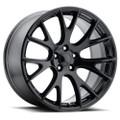 "Hellcat Style 22"" Gloss Black Dodge Ram Dakota Durango Chrysler Wheels 22x10"" Rims"