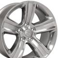 "20"" Fits Dodge Ram 1500 Chrysler Durango Dakota Wheels Rims Polished w/ Silver Inlay Set of 4 20x9"" Rims Hollander 2267"