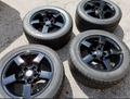 "18"" Ford Lightning Wheels with Tires F150 SVT Style Gloss Black Set of 4 18x9.5 Rims"