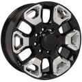 "20"" Fits Dodge Ram 2500-3500 Gloss Black Wheels with Chrome Inserts Set of 4 20x8"" Rims"