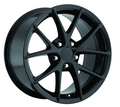 "18"" Fits C6 Z06 Corvette Spyder Gloss Black Wheel 18x9.5"" Rim"