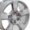 """20"""" Fits Chevy Tahoe Wheels GMC Cadillac Silverado Sierra Yukon Set of 4 Chrome 20x9"""" Rims"""