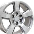 """20"""" Fits Chevy Tahoe Wheels GMC Cadillac Silverado Sierra Yukon Set of 4 Polished 20x9"""" Rims"""