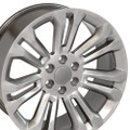 "22"" Hyper Black 2015 GMC 1500 Sierra Tahoe Chevy Silverado Wheels Set of 4 22x9 Rims"